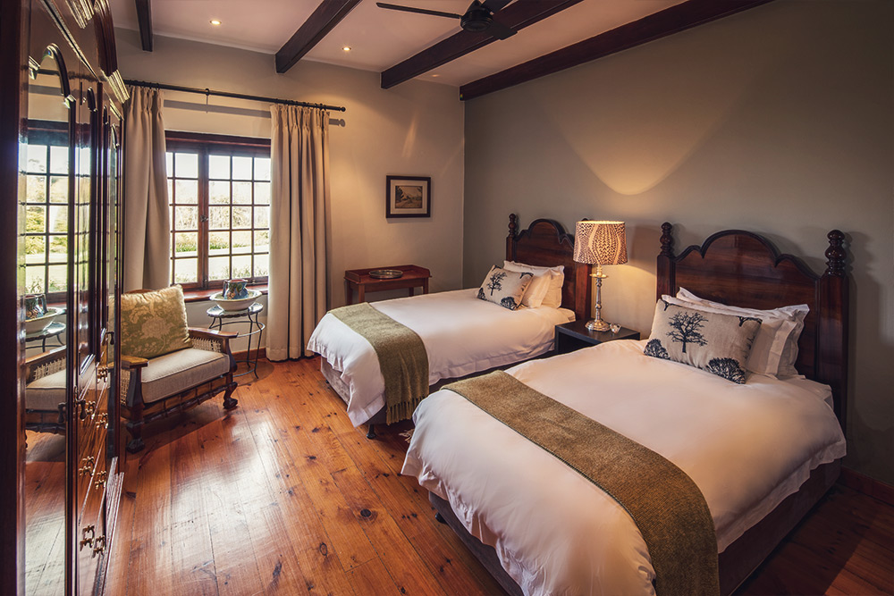 bedroom at the manor, accommodation in franschhoek