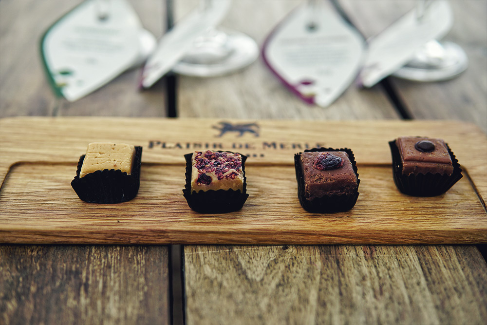 wine tasting and fudge pairing in franschhoek