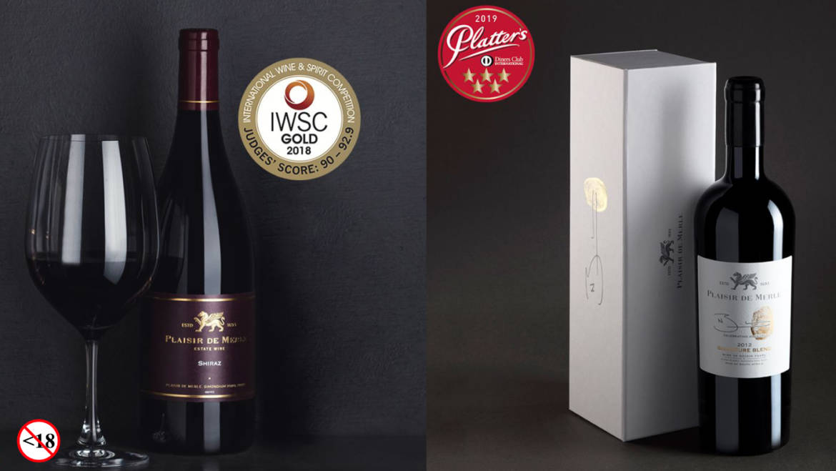 Plaisir de Merle Wines taking home Gold